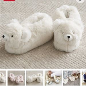 Bear fur slippers